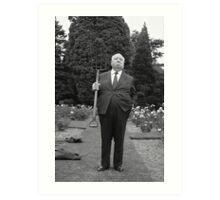 Alfred Hitchcock Pitchfork Art Print