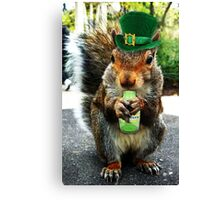 drunk squirrel Canvas Print