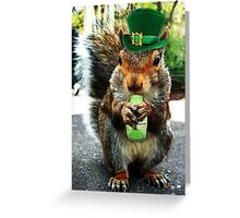 drunk squirrel Greeting Card