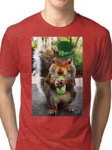 drunk squirrel Tri-blend T-Shirt
