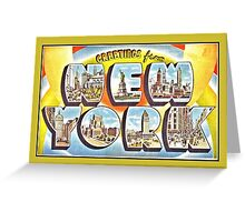 Greetings from New York Forties Fifties style Greeting Card
