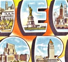 Greetings from New York Forties Fifties style Sticker