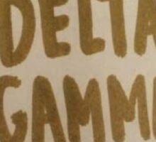 Delta Gamma Sticker Sticker