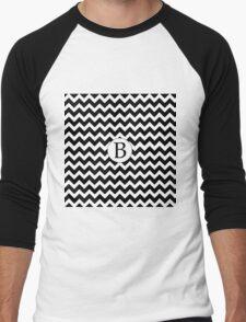 B Black Chevron Men's Baseball ¾ T-Shirt
