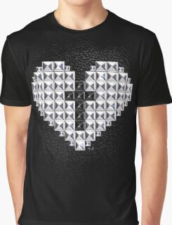 studded heart and cross Graphic T-Shirt