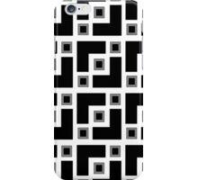 Black And White Geometric  iPhone Case/Skin