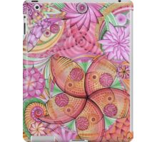 Psychedelic flowers iPad Case/Skin