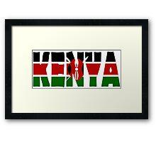 Kenya Framed Print