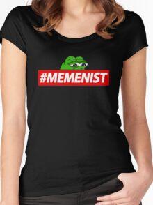 Memenist Meme Meninist Feminist Parody Women's Fitted Scoop T-Shirt