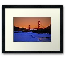 San Francisco Bay Golden Gate Bridge Framed Print