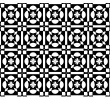 Black White Abstract Pattern Photographic Print