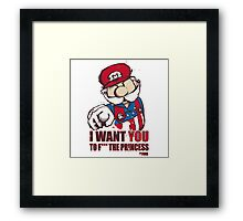 Uncle Mario - I Want You To F*** The Princess Framed Print