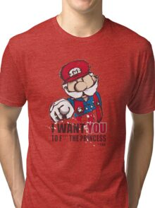 Uncle Mario - I Want You To F*** The Princess Tri-blend T-Shirt