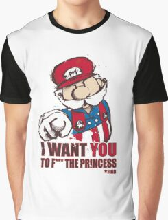 Uncle Mario - I Want You To F*** The Princess Graphic T-Shirt