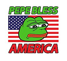 Pepe Bless America Photographic Print