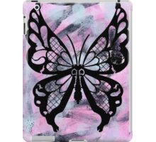 Black Butterfly Pastel Abstract Background iPad Case/Skin