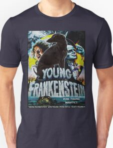 Whippet Art - Young Frankenstein Movie Poster T-Shirt