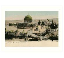 Jerusalem The Temple of Solomon ca 1900 Art Print