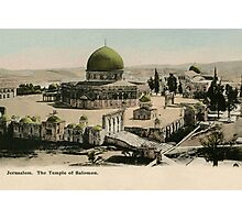 Jerusalem The Temple of Solomon ca 1900 Photographic Print