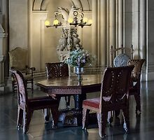 Penrhyn castle- Table and chairs by jasminewang
