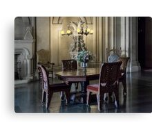 Penrhyn castle- Table and chairs Canvas Print