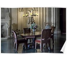 Penrhyn castle- Table and chairs Poster