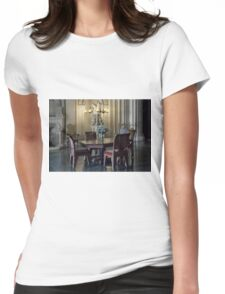 Penrhyn castle- Table and chairs Womens Fitted T-Shirt