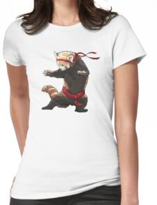 Red Panda FIGHT Womens Fitted T-Shirt