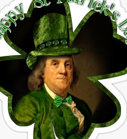 St Patrick's Day Ben Franklin Sticker