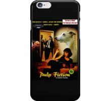 Whippet Art - Pulp Fiction Movie Poster iPhone Case/Skin