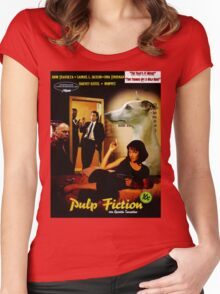 Whippet Art - Pulp Fiction Movie Poster Women's Fitted Scoop T-Shirt