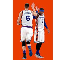 Kristaps Porzingis Carmelo Anthony New York Knicks  Photographic Print