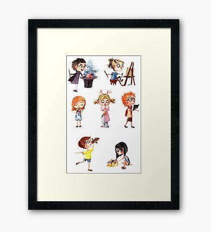 Cute children Framed Print
