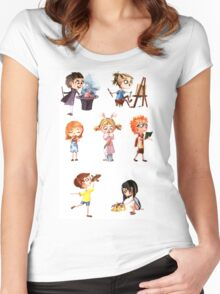 Cute children Women's Fitted Scoop T-Shirt