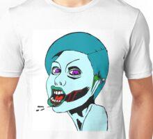 Blue Zombie Wench Unisex T-Shirt