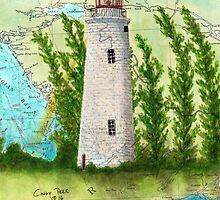 Christian Island Lighthouse Ontario CAN Nautical Chart Cathy Peek by Cathy Peek