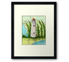 Christian Island Lighthouse Ontario CAN Nautical Chart Cathy Peek Framed Print