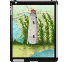 Christian Island Lighthouse Ontario CAN Nautical Chart Cathy Peek iPad Case/Skin