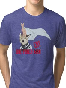 One punch CAT Tri-blend T-Shirt