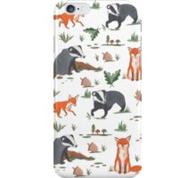 Fox and Badger Pattern  iPhone Case/Skin
