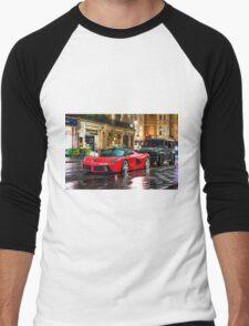 Ferrari LaFerrari in the rain in London Men's Baseball ¾ T-Shirt
