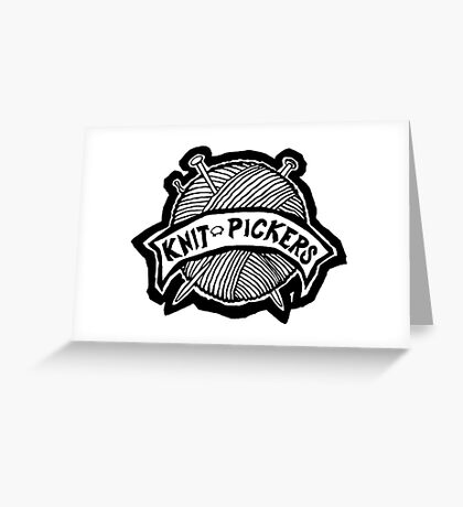 Knit Pickers graphic Greeting Card
