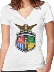 Voltron Coat of Arms Women's Fitted V-Neck T-Shirt