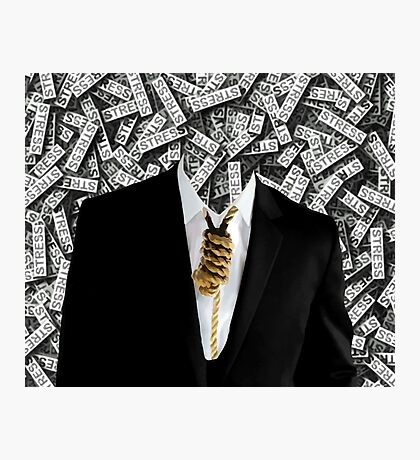 Free Yourself Tuxedo With Rope On Neck Photographic Print