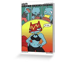 Superhero Training - Mizzle Comic Greeting Card