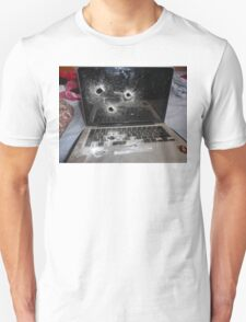Bullet Hole Laptop T-Shirt