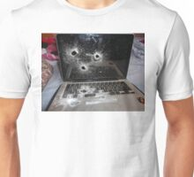 Bullet Hole Laptop Unisex T-Shirt