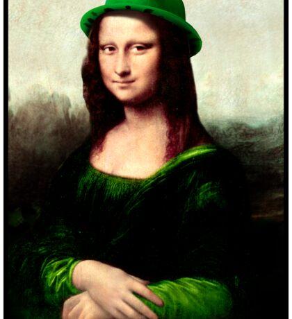 Lucky Mona Lisa - St Patrick's Day Sticker