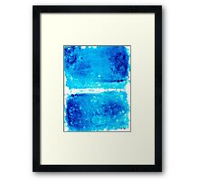 Blue Modern Art - Two Pools - Sharon Cummings Framed Print
