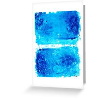 Blue Modern Art - Two Pools - Sharon Cummings Greeting Card